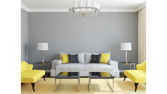 Deco Salon Jaune Gris Blanc - Amazing Home Ideas ...